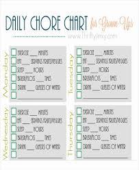 Roommate Chore Chart Template Fresh 40 Free Charts