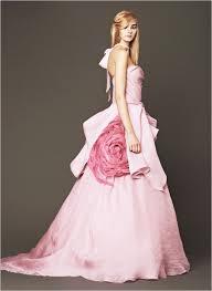 pink wedding gowns. Vera Wang 2014 Pink Wedding Gowns Weddingomania