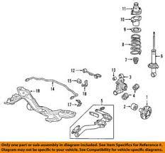 honda oem 03 04 cr v rear suspension knuckle spindle 52215s9a983 ebay 2009 Honda CR-V Engine Diagram image is loading honda oem 03 04 cr v rear suspension