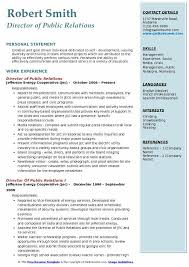 Examples Of Public Relations Resumes Director Of Public Relations Resume Samples Qwikresume