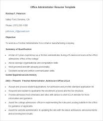 Office Admin Resume Best Professional Resume Template 48 Free Samples Examples Format
