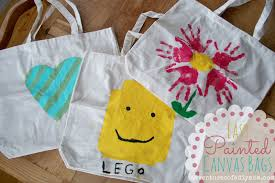 easy diy painted canvas bags
