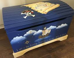 painted kids furniture. Pirate Toy Box, Hand Painted Kids Furniture, Boxes, Furniture