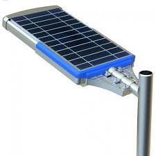 all in one solar led street light solar panel