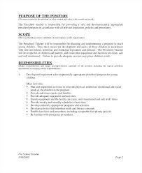 Job Duties Of Teacher We Have Number Of Substitute Teacher Resume