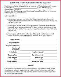 Residential Lease Contract Short Term Rental Agreement Samples Forms Writing Tips