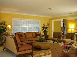 tropical living rooms: yellow living room table yellow tropical living room