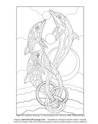 Free Coloring Page Dolphin Ocean Sea