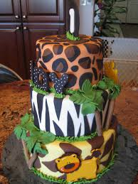 Jungle Theme Decorations Jungle Cakes Decoration Ideas Little Birthday Cakes