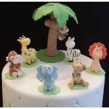 Cake Decorating Animal Figures Jungle Safari Birthday Cake Decorations Wild Safari Birthday