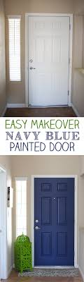 Image Gray Paint Both Sides Of Your Front Door For Pop Of Color Navy Blue Interior Armbusinessinfo Navy Blue Interior Front Door Easy Pop Of Color