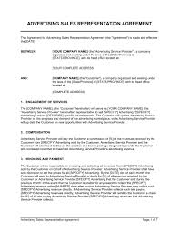 Advertising Sales Representation Agreement - Template & Sample Form ...