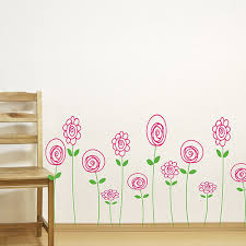 beautiful flower wall decals
