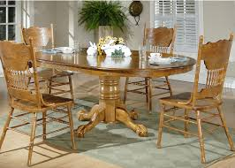 Chair Pretty Oak Pedestal Dining Table And Chairs Mesmerizing Room