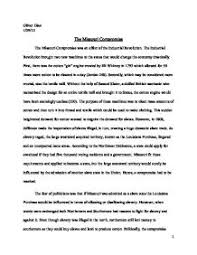 the effectiveness of political compromise during the period of  the missouri compromise the fear of politicians was