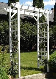 vinyl pergola garden trellis garden arch