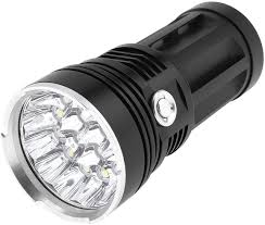 Securitying Lights Securitying Powerful 16 Leds 4800lm 4 Modes Flashlight Waterproof Aluminum Super Bright Torch Powered By 4 X 18650 Batteries Battery Not Included