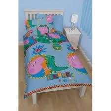 Peppa Pig George 'Roar' Single Quilt Cover and Pillowcase Set &  Adamdwight.com