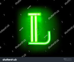 Lighted Letter L Neon Capital Letter L Lighted On Stock Photo Edit Now