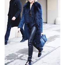 coat fur collar coat blue coat winter coat black leather pants leather pants black pants