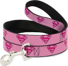 <b>Поводок Buckle-Down Супермен</b>, 190882320096, розовый, 120 см