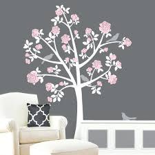 white cherry blossom tree wall decal tree wall decals flower tree girl  nursery tree wall decals .
