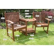 henley love seat hardwood garden bench