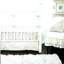 vintage crib bedding nursery white and brown neutral set property sand scroll antique fl vintage crib bedding