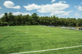 green grass soccer field. Recreational Field At Framingham High School Green Grass Soccer