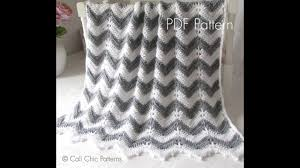 Chevron Crochet Blanket Pattern Stunning Chevron Crochet Baby Blanket Pattern Presentation YouTube