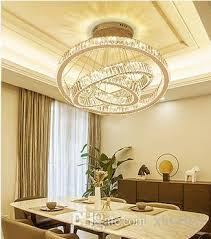 dining room chandelier modern simple three head ring creative personality led crystal lamp double building large chandelier living room la chandeliers