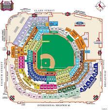 Busch Stadium Concert Seating Chart 48 Inquisitive Map Of Busch Stadium