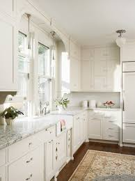 satin nickel white kitchen