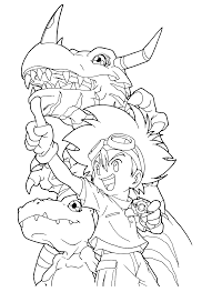 Small Picture Digimon Coloring Pages Coloringpages1001com