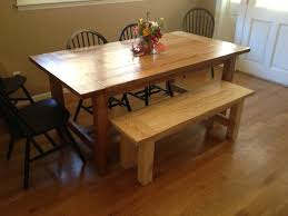 Free Dining Room Table Plans Farmhouse Kitchen Table With Bench Ideas Jmrehomecom