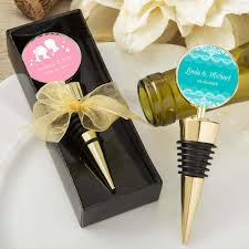 personalised wine stopper gold wine stopper favors