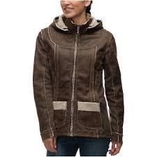 kuhl dani sherpa jacket women s oak