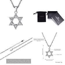 details about jewish magen star of david necklace men women bat mitzvah gift israel j silver