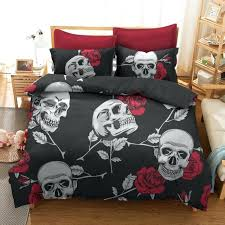 skull and crossbones bedding rose skull bedding sets skull and bones bedding set