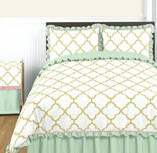 mint colored bedding sets gold mint c and white full queen girl teen bedding set mint mint colored bedding
