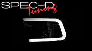 Ram Door Projector Lights Specdtuning Demo Video 2009 2018 Dodge Ram 1500 Led Light Bar Projector Headlights
