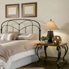 california king bed headboard. Pomona California King-Size Headboard With Arched Metal Grill And Detailed Posts In Hazelnut King Bed D