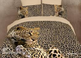amazing leopard print 4 piece bedding sets duvet cover bedding sets