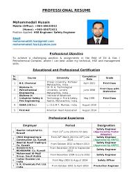 Environmental Health Safety Engineer Sample Resume Delectable HSE Engineer Resume