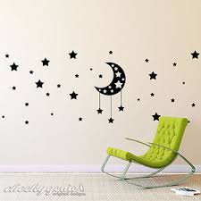 image is loading moon and stars vinyl wall art boys girls  on stars vinyl wall art with moon and stars vinyl wall art boys girls child kids bedroom