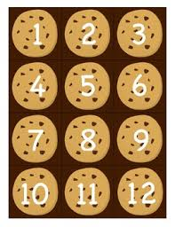 Cookie Chart Cookie Themed Pocket Chart Numbers 1 100