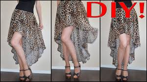 High Low Skirt Pattern Delectable How To Make Patterns For High Low Skirt DIYJak Zrobić Szablony Na