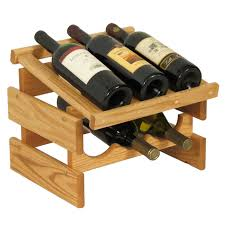 Image of: Small Wooden Wine Racks Design