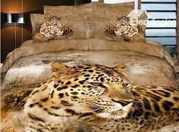 beautiful wild big leopard print 4 piece duvet cover bedding sets