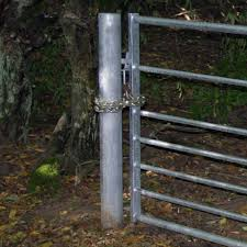 Galv Metal Gate Posts Field Entrance Gates TATE Fencing